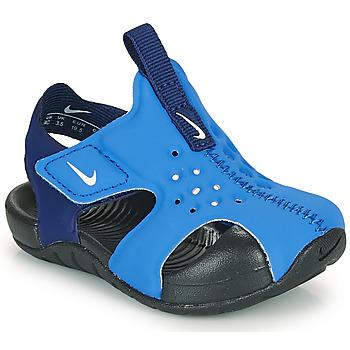 Buty Chłopiec klapki Nike SUNRAY PROTECT 2 TD Niebieski