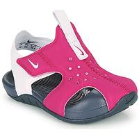 Buty Dziewczynka klapki Nike SUNRAY PROTECT 2 TD Fioletowy