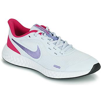 Buty Dziewczynka Multisport Nike REVOLUTION 5 GS Niebieski / Fioletowy