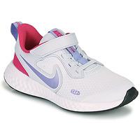 Buty Dziewczynka Multisport Nike REVOLUTION 5 PS Niebieski / Fioletowy