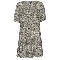 tekstylia Damskie Sukienki krótkie Vero Moda VMELIN Beżowy