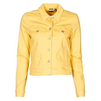 tekstylia Damskie Kurtki jeansowe Vero Moda VMHOTSOYA Żółty