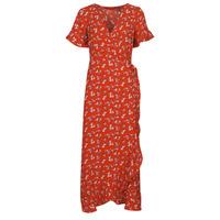 tekstylia Damskie Sukienki długie Vero Moda VMSAGA Czerwony