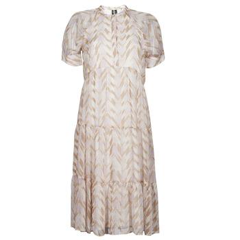tekstylia Damskie Sukienki długie Vero Moda VMKATHRINE Beżowy