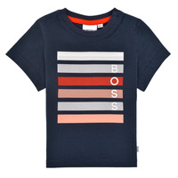 tekstylia Chłopiec T-shirty z krótkim rękawem BOSS ENOLITO Marine