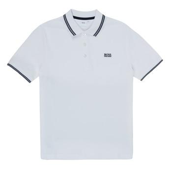tekstylia Chłopiec Koszulki polo z krótkim rękawem BOSS TONNELA Biały