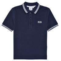 tekstylia Chłopiec Koszulki polo z krótkim rękawem BOSS TONNELA Marine