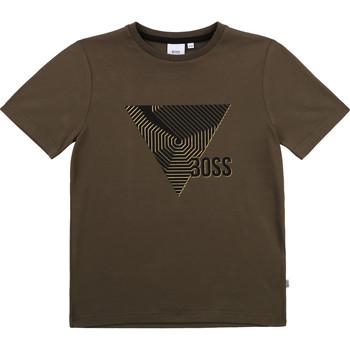 tekstylia Chłopiec T-shirty z krótkim rękawem BOSS SIMEO Kaki