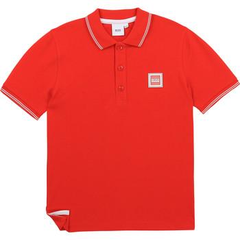 tekstylia Chłopiec Koszulki polo z krótkim rękawem BOSS BARBORA Czerwony