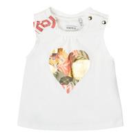 tekstylia Dziewczynka Topy na ramiączkach / T-shirty bez rękawów Ikks XS10030-19 Biały
