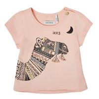 tekstylia Dziewczynka T-shirty z krótkim rękawem Ikks XS10100-32 Różowy