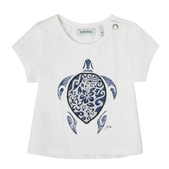 tekstylia Dziewczynka T-shirty z krótkim rękawem Ikks XS10070-19 Biały