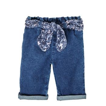 tekstylia Dziewczynka Jeansy straight leg Ikks XS29000-86 Niebieski