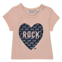 tekstylia Dziewczynka T-shirty z krótkim rękawem Ikks XS10120-31 Różowy