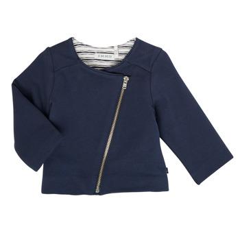 tekstylia Dziewczynka Swetry rozpinane / Kardigany Ikks XS17030-48 Marine