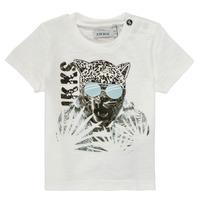 tekstylia Chłopiec T-shirty z krótkim rękawem Ikks XS10161-19 Biały