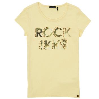 tekstylia Dziewczynka T-shirty z krótkim rękawem Ikks XS10182-73-J Żółty
