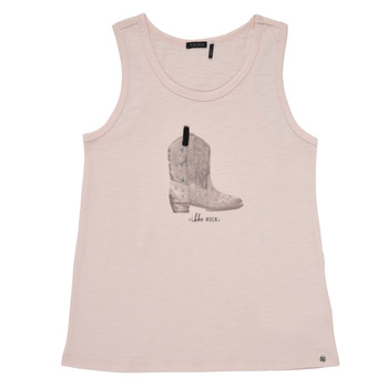 tekstylia Dziewczynka Topy na ramiączkach / T-shirty bez rękawów Ikks XS10302-31-J Różowy