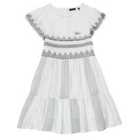 tekstylia Dziewczynka Sukienki krótkie Ikks XS30012-11-J Biały