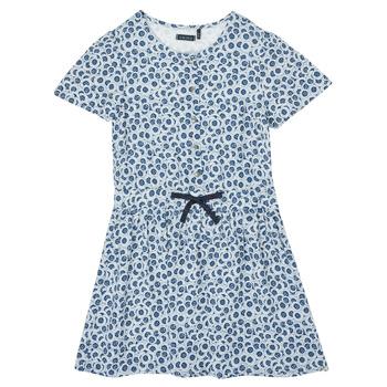 tekstylia Dziewczynka Sukienki krótkie Ikks XS30102-48-C Niebieski