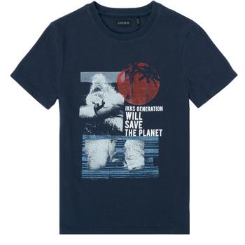 tekstylia Chłopiec T-shirty z krótkim rękawem Ikks XS10013-48-C Marine