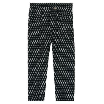 tekstylia Dziewczynka Spodnie z lejącej tkaniny / Alladynki Ikks XS22002-02-J Czarny