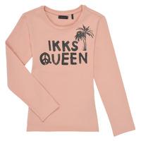 tekstylia Dziewczynka T-shirty z długim rękawem Ikks XS10092-32-J Różowy