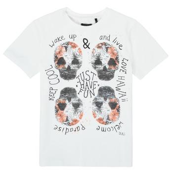 tekstylia Chłopiec T-shirty z krótkim rękawem Ikks XS10513-19-J Biały