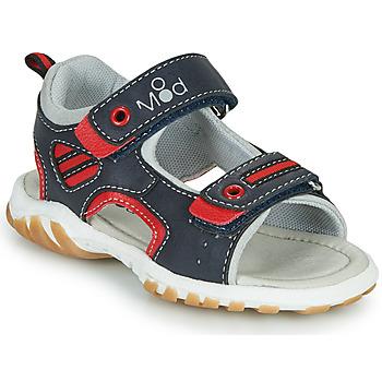 Buty Chłopiec Sandały Mod'8 TOPPY Marine / Czerwony