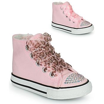 Buty Dziewczynka Trampki wysokie Citrouille et Compagnie OUTIL Różowy
