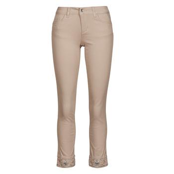 tekstylia Damskie Spodnie z pięcioma kieszeniami Liu Jo IDEAL Beżowy