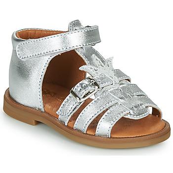 Buty Dziewczynka Sandały GBB CARETTE Srebrny