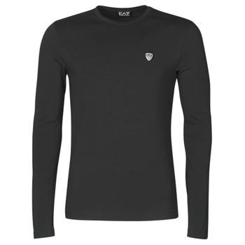 tekstylia Męskie T-shirty z długim rękawem Emporio Armani EA7 TRAIN CORE SHIELD Czarny