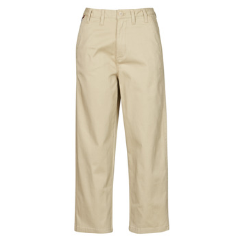 tekstylia Damskie Chinos Tommy Jeans TJW HIGH RISE STRAIGHT Beżowy