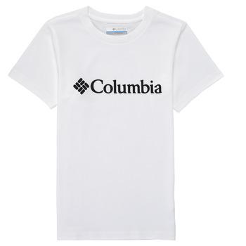tekstylia Chłopiec T-shirty z krótkim rękawem Columbia CSC BASIC LOGO YOUTH Biały
