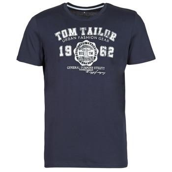 tekstylia Męskie T-shirty z krótkim rękawem Tom Tailor  Marine