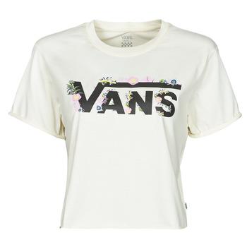 tekstylia Damskie T-shirty z krótkim rękawem Vans BLOZZOM ROLL OUT Biały