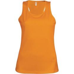 tekstylia Damskie Topy na ramiączkach / T-shirty bez rękawów Proact Débardeur femme  Sport orange