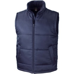 tekstylia Swetry rozpinane / Kardigany Result Doudoune Sans Manche  Core bleu marine