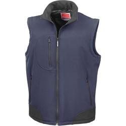 tekstylia Swetry rozpinane / Kardigany Result Doudoune Sans Manche  Softshell bleu marine