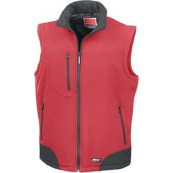 tekstylia Swetry rozpinane / Kardigany Result Doudoune Sans Manche  Softshell rouge/noir