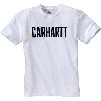tekstylia T-shirty z krótkim rękawem Carhartt T-shirt  Block blanc