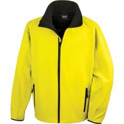 tekstylia Męskie Bluzy dresowe Result Veste  Softshell Printable jaune/noir