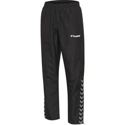 tekstylia Dziecko Spodnie dresowe Hummel Pantalon enfant  hmlAUTHENTIC Micro noir/blanc