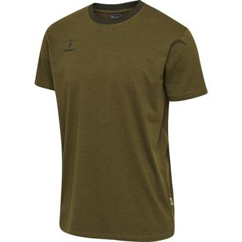 tekstylia Dziecko T-shirty z krótkim rękawem Hummel T-shirt enfant  Lmove vert foncé