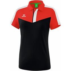 tekstylia Damskie Koszulki polo z krótkim rękawem Erima Polo femme  Squad rouge/noir/blanc