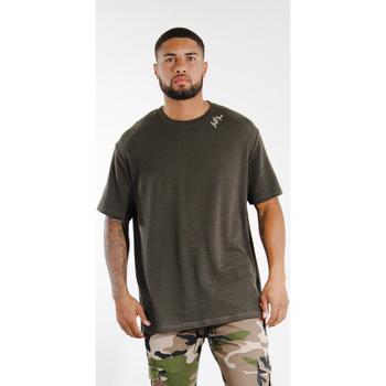 tekstylia Męskie T-shirty z krótkim rękawem Sixth June T-shirt  logo épaule kaki