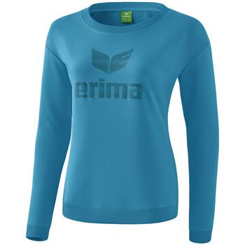 tekstylia Damskie T-shirty z długim rękawem Erima Sweat-shirt femme  Essential bleu clair/bleu
