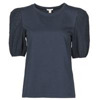 tekstylia Damskie T-shirty z krótkim rękawem Esprit T-SHIRTS Czarny