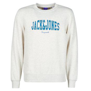 tekstylia Męskie Bluzy Jack & Jones JORHART Biały